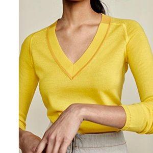 Rag & Bone Pamela V-Neck Yellow Wool Sweater RB7